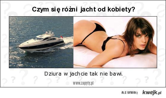 Czym się różni jacht od kobiety?