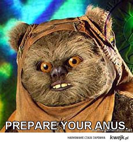 prepare ur anus