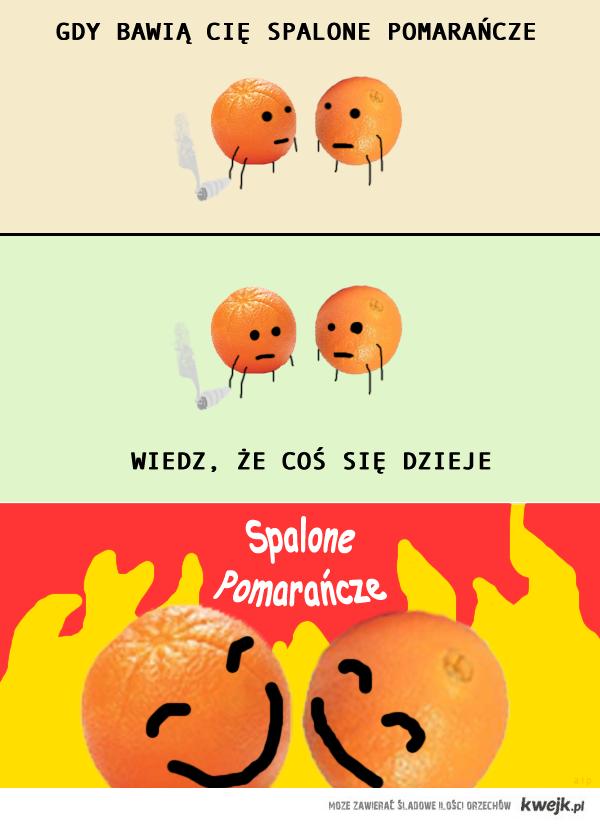 Spalone pomarańcze: coś się dzieje