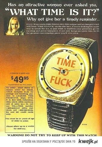 Zegarek na podryw