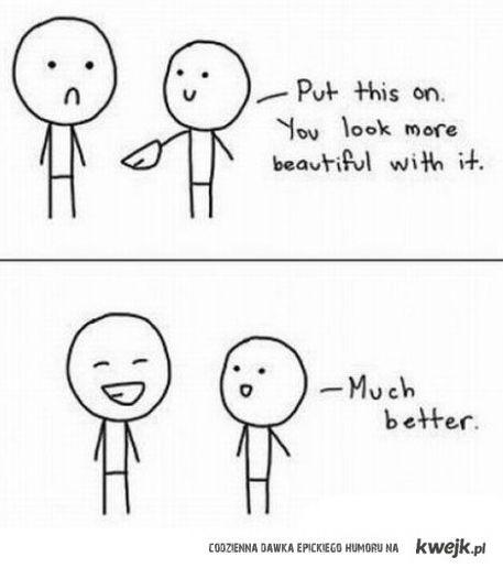 Naloz usmiech, lepiej z nim wygladasz