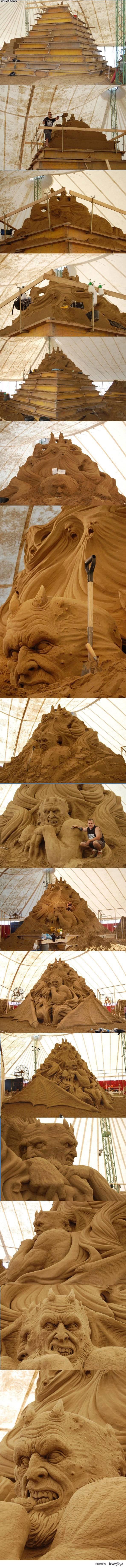 piaskowa rzeźba xxl