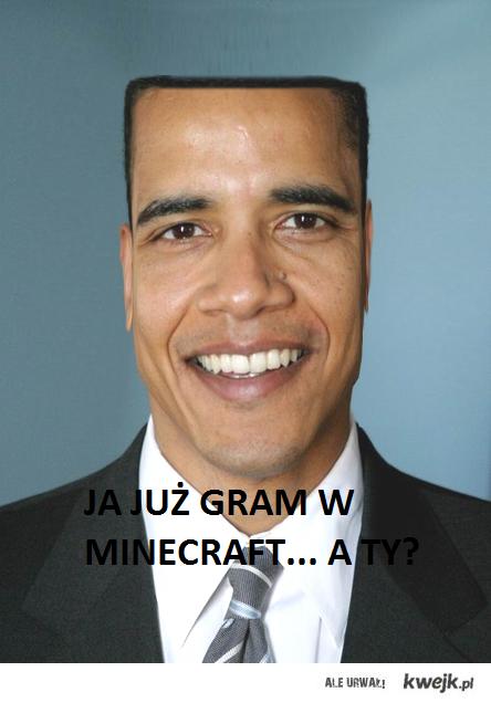Obama gra w Minecraft