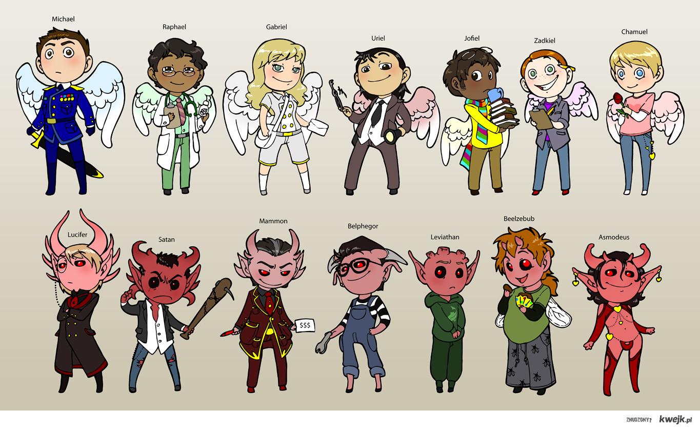 14 aniołów i demonów