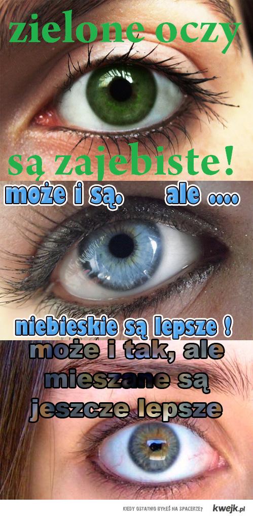 oczy mieszane