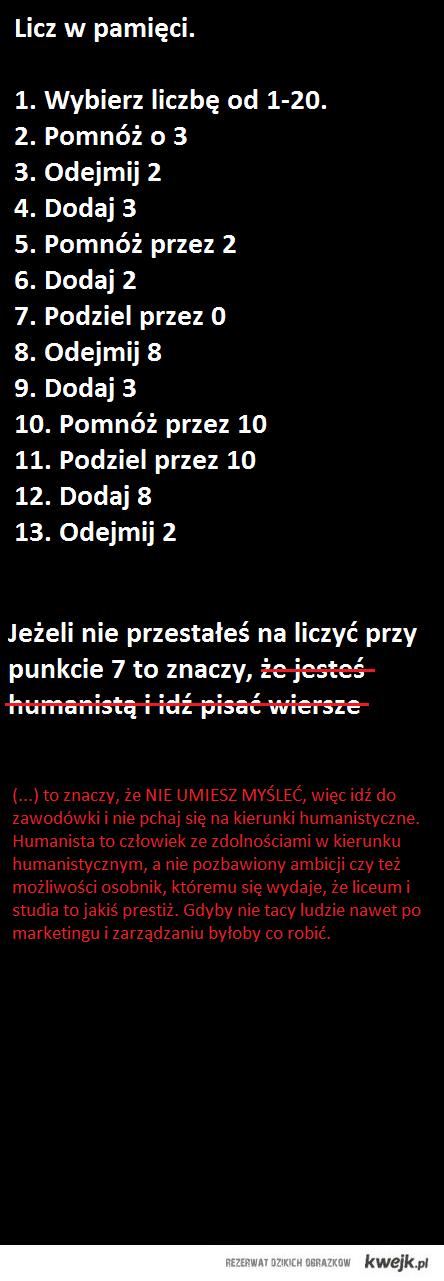 "humaniści o ""ch*jmanistach"""