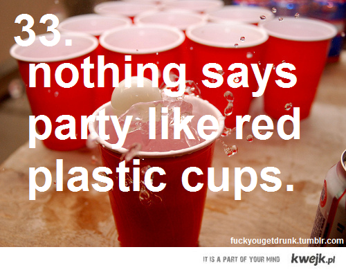 red plastic cups
