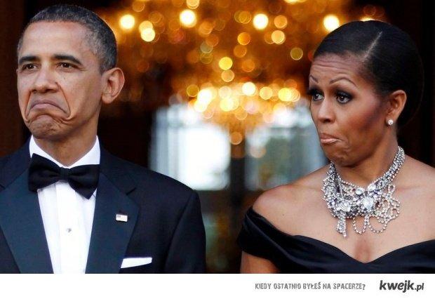 Obama na widok królowej
