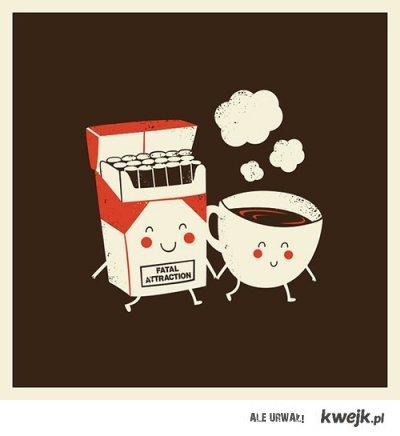 kawa i papierosy