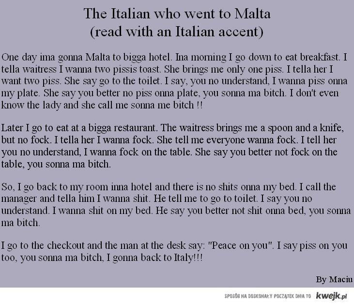The Italian who went to Malta