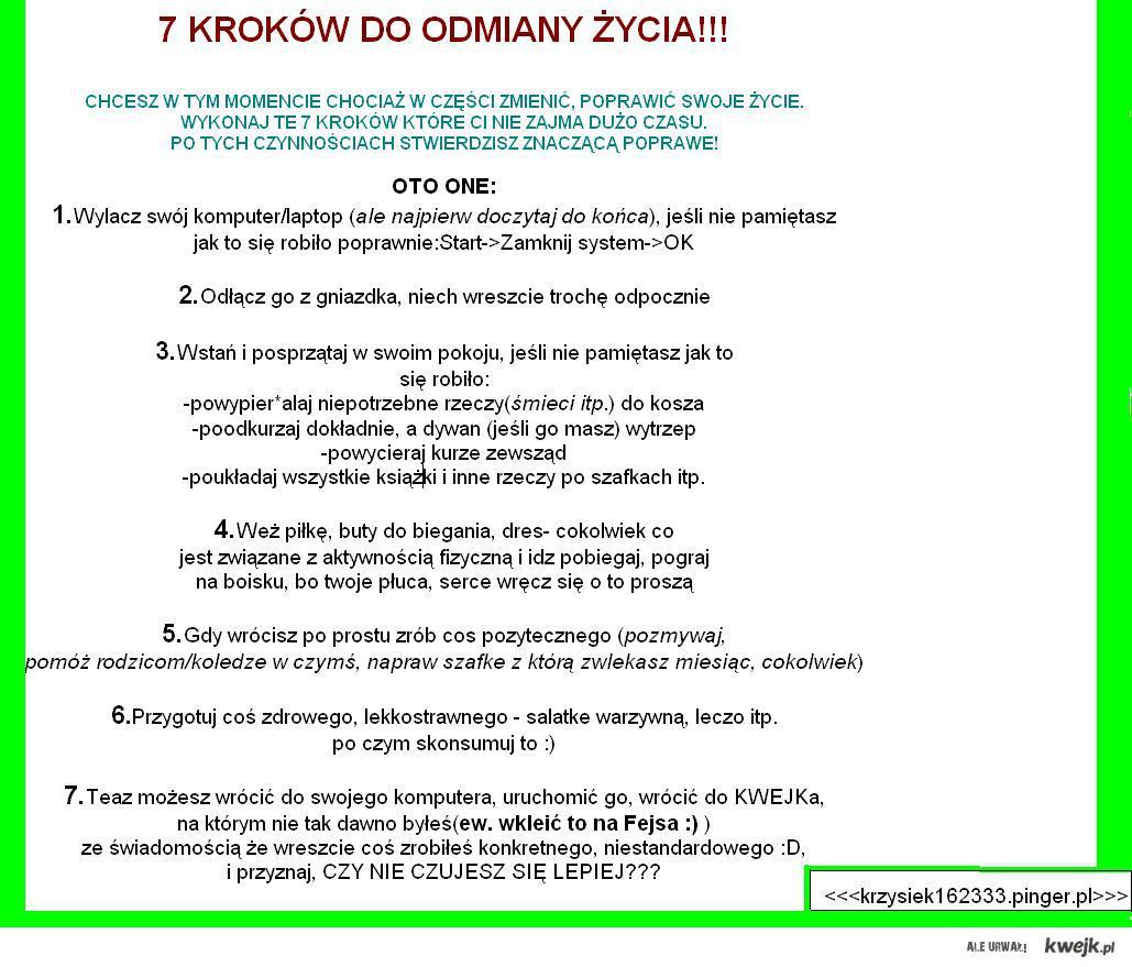 7 kroków do zmiany zycia