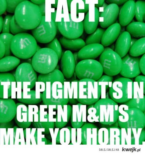 zielone m&msy