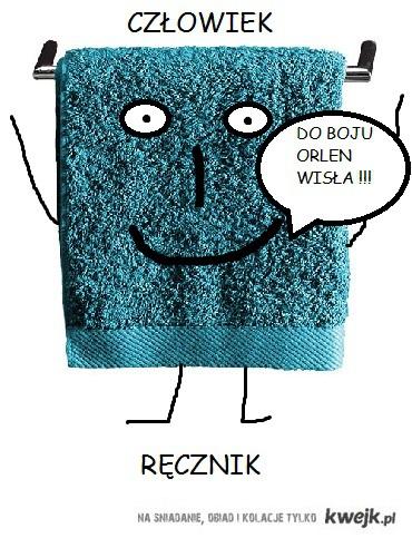 człowiek ręcznik