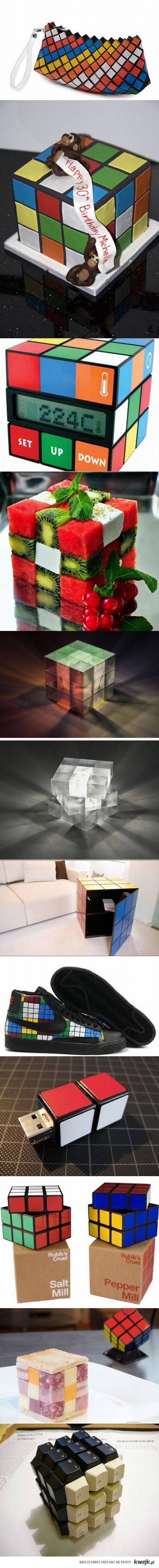 inspirowane kostką rubika