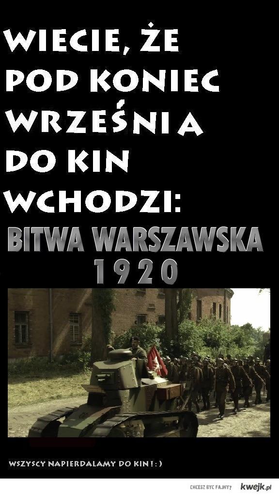 """Polski film wojenny """"Bitwa Warszawska 1920""""."""
