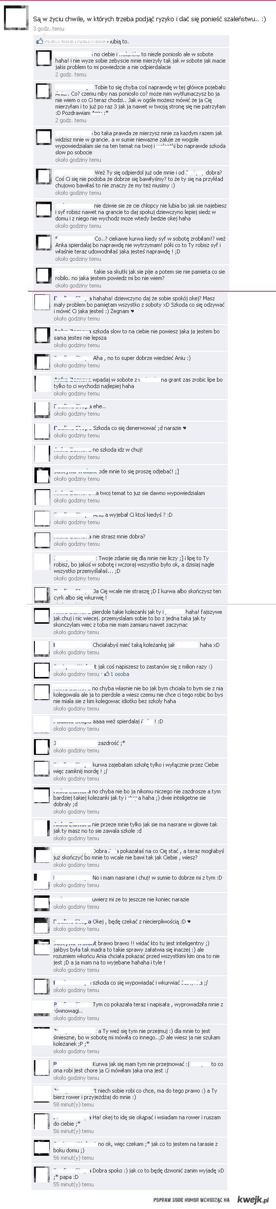 kłótnia facebookowa