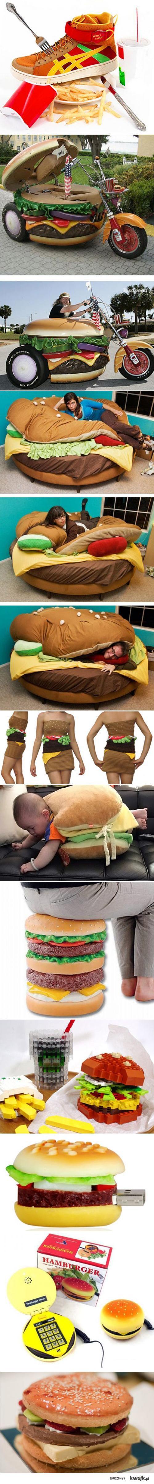 inspirowane hamburgerem