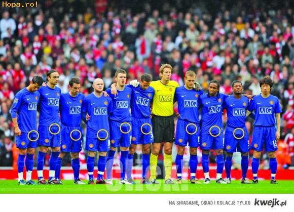 Podnieceni zawodnicy Man United