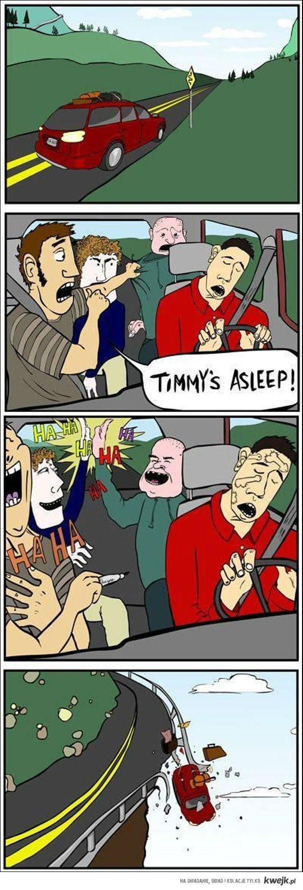 Zasnąć za kierownicą..w gronie przyjaciół
