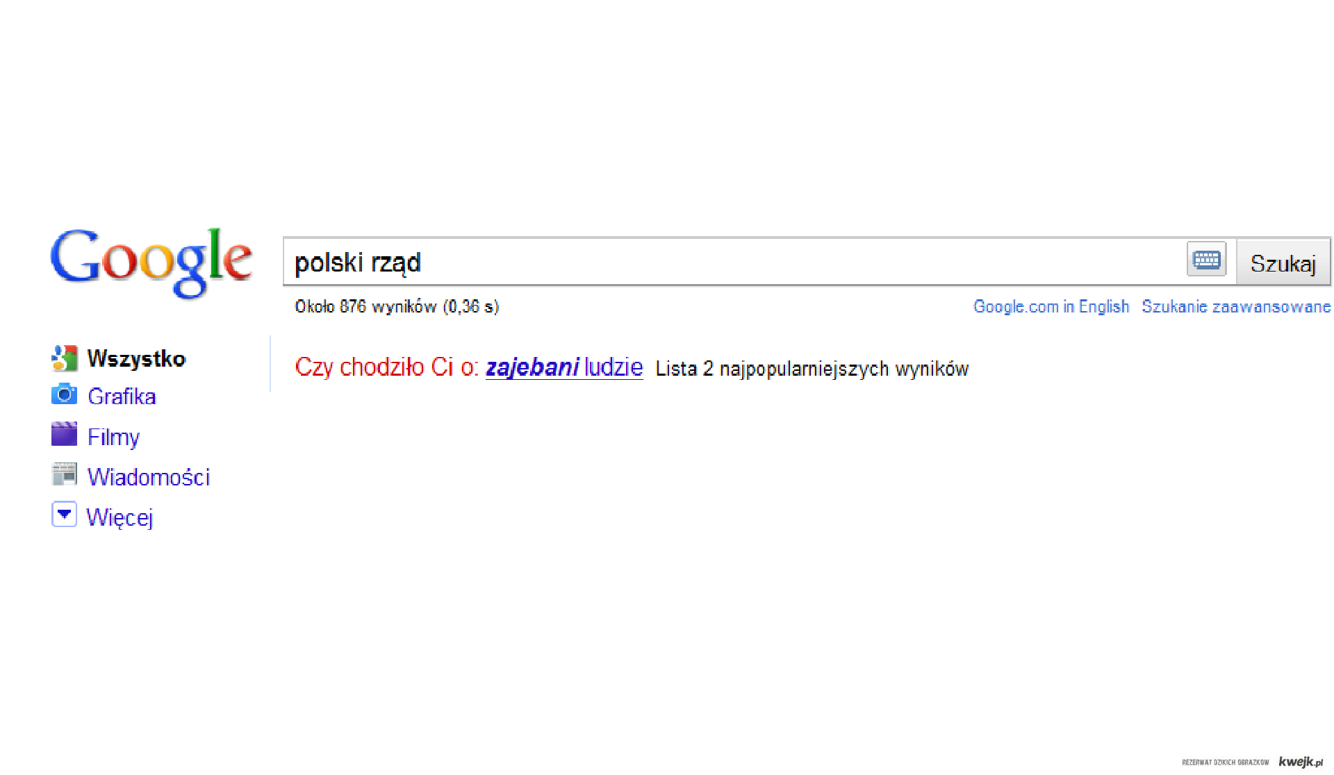 Każdy lubi polski rząd:)