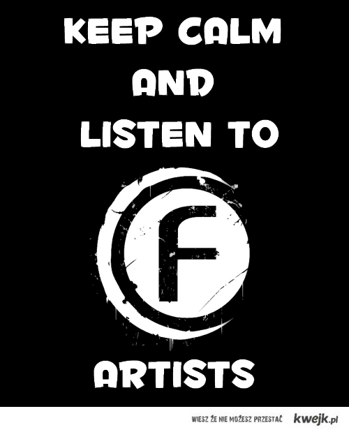 keep calm and listen to fusion of sound artists