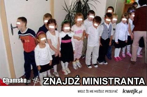 Znajdź ministranta