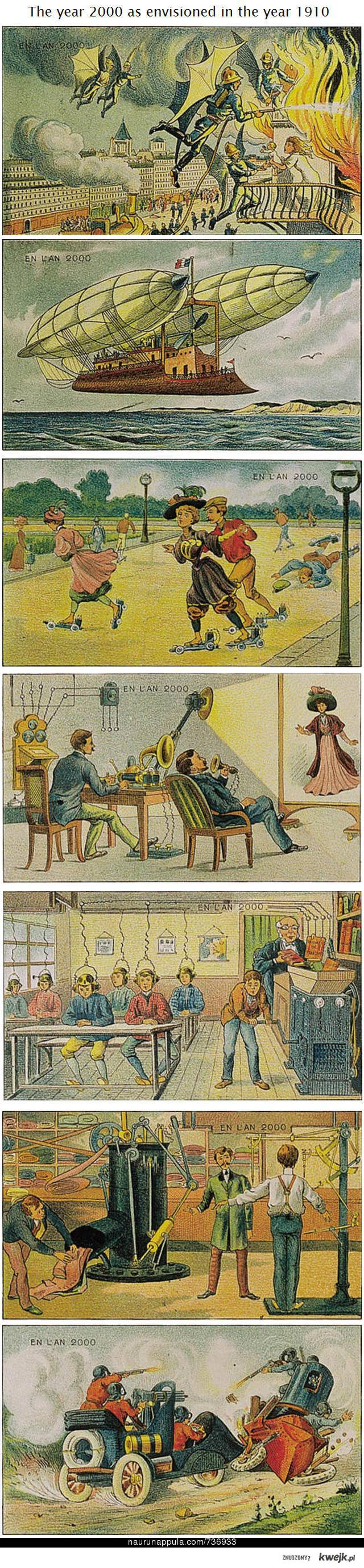the year 2000 as envisioned in the year 1900