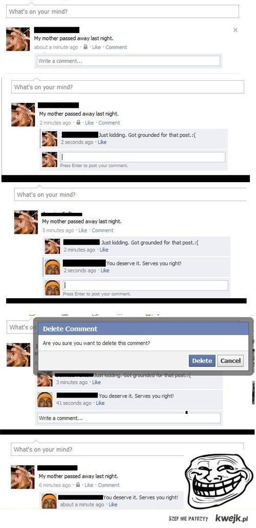 facebook comment prank