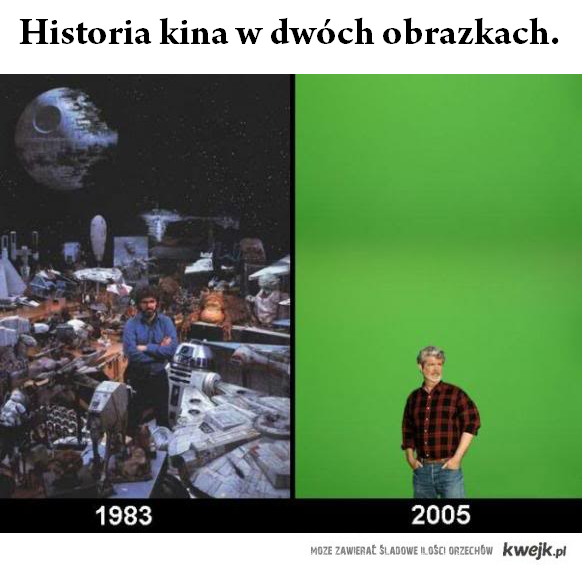 Historia kina w dwoch obrazkach
