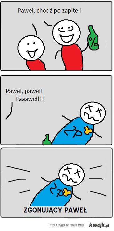 zgonujacy pawel