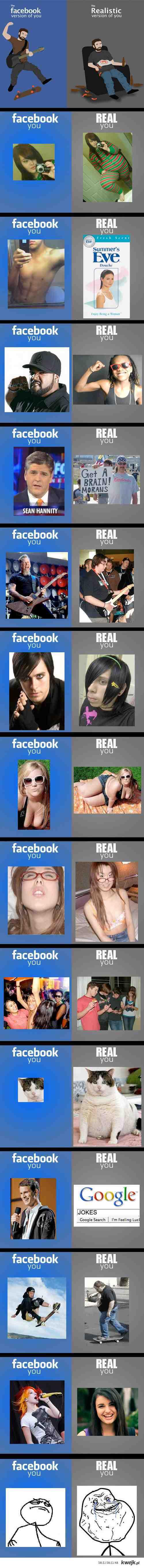 fb vs real