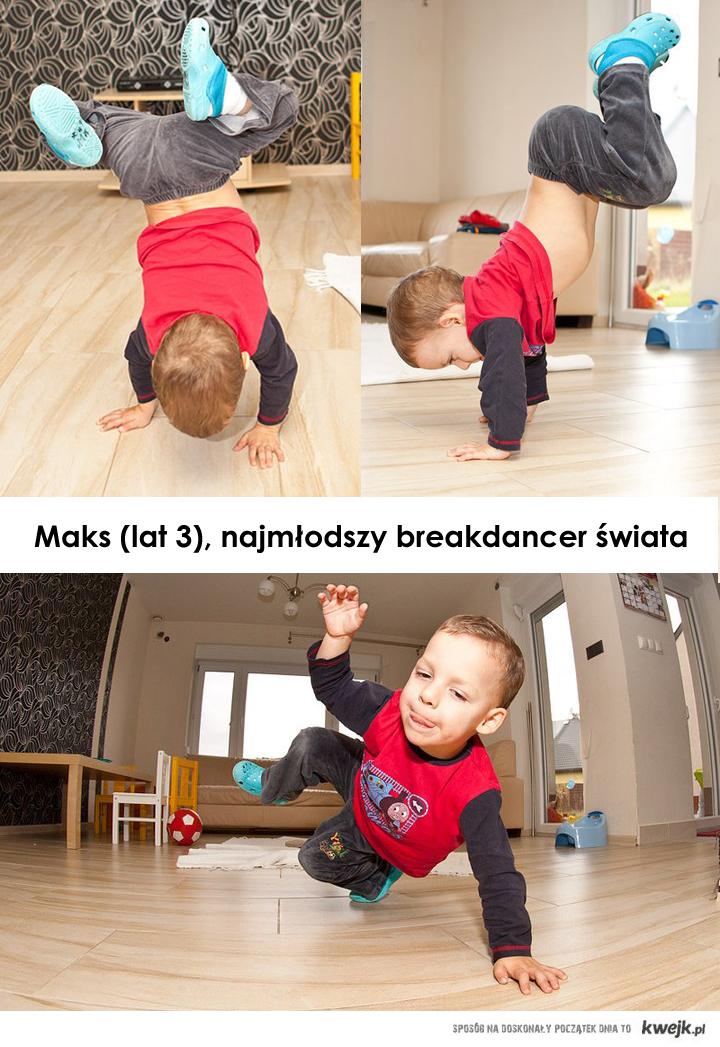 Maksiu, najmłodszy breakdance świata