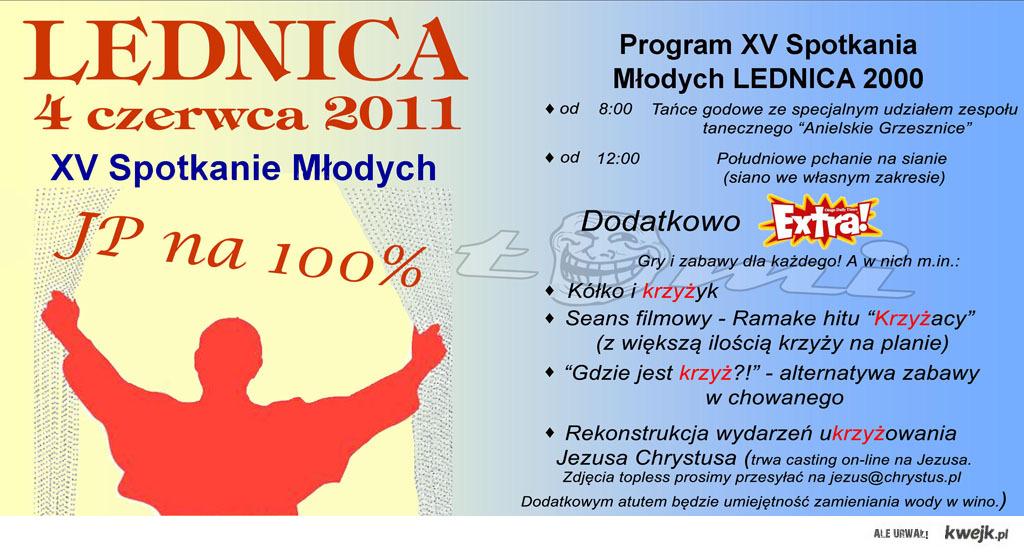 Program zajęć LEDNICA 2011