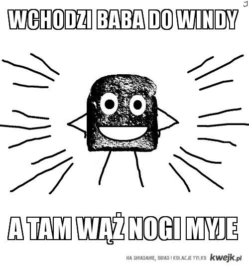 Baba wchodzi do windy