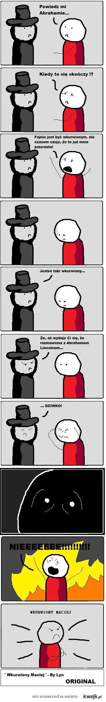 Wkurwiony Maciej vs Abraham Lincoln