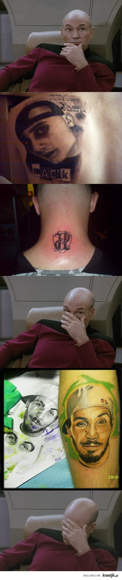 tatuaż idioty