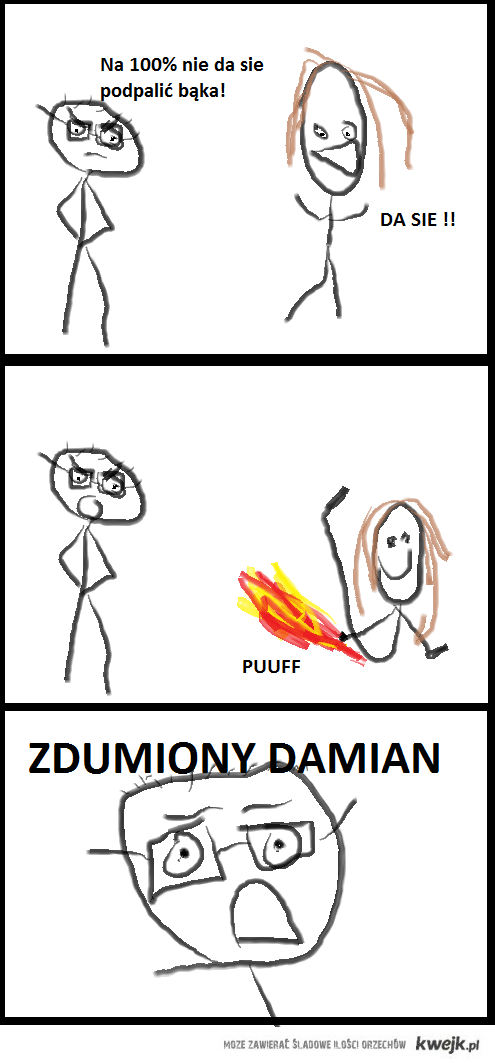 Zdumiony Damian