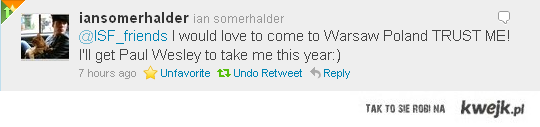 Ian Somerhalder w Polsce