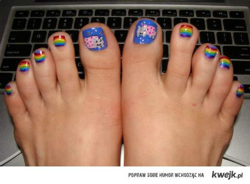 Nyan cat fingers