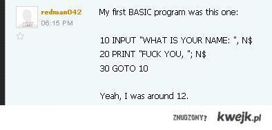 My First Programm