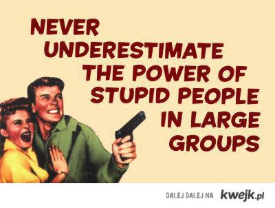 Stupid People in Large Groups