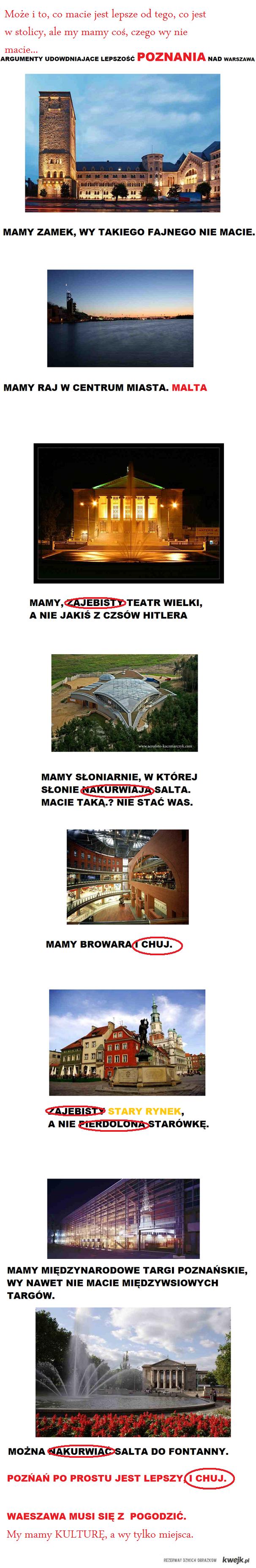 Wyższość Warszawy nad Poznaniem.