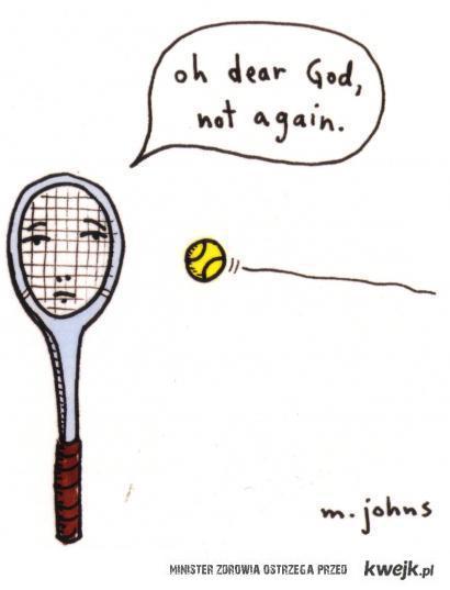 tryskająca energią rakietka tenisowa