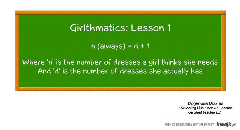 matematyka - wersja kobieca