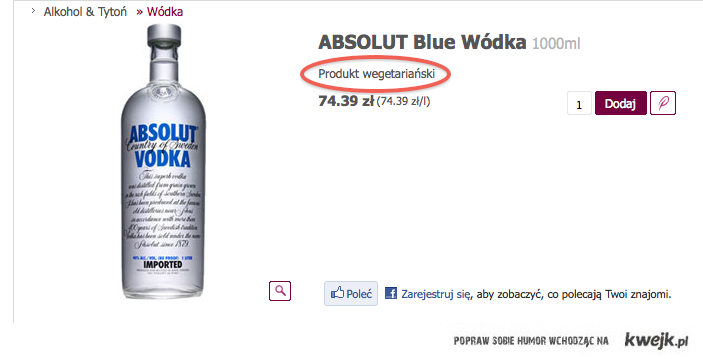 Produkt wegetariański