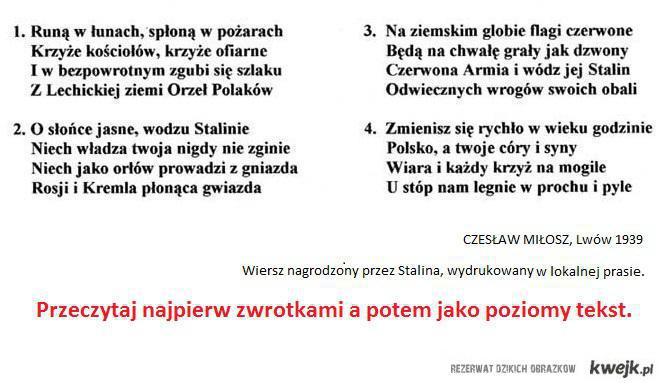 Czesław Miłosz mistrz!