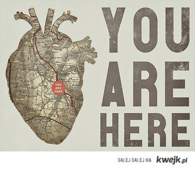 you are here- heart