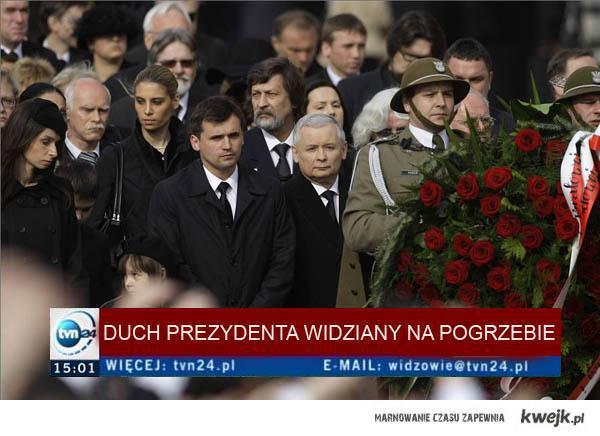 Duch prezydenta widziany na pogrzebie