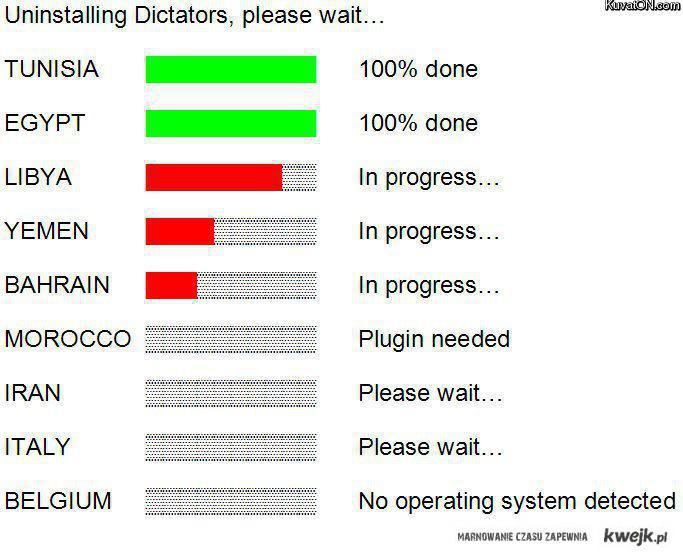 Uninstalling dictators