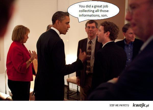 Przychodzi Obama do Zuckerberga...